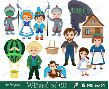 Wizard of Oz / Part 2 / clipart commercial use, Oz, dorothy graphics