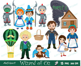 Wizard of Oz / Part 2 / clipart commercial use, Oz, doroth