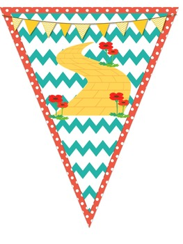 Wizard of Oz Pennant Banner