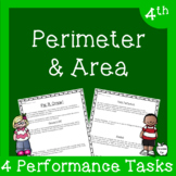 4th Grade Perimeter and Area Assessment ~ Real Life Word Problems