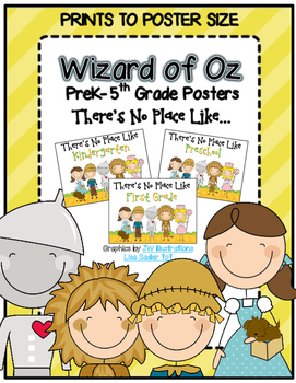 Wizard of Oz Poster - There's No Place Like.... Prek-5th Grade