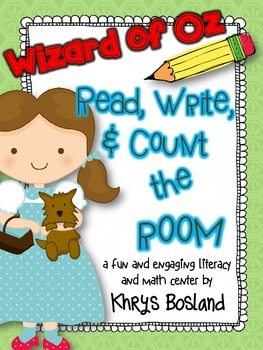 Wizard of Oz Read, Write, and Count the Room {Literacy and Math} {CCSS}