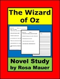 Wizard of Oz Novel Study