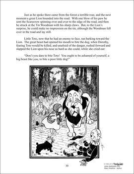 Wizard of Oz Reading Comprehension Unit - Common Core Aligned