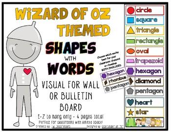 Wizard of Oz Shapes - Wall or Bulletin Board Display