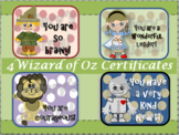 Wizard of Oz Praise Cards/Positive Behavior Certificates