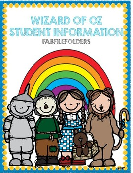 Wizard of Oz Student Information- Editable
