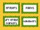 Wizard of Oz Supply Bin Labels