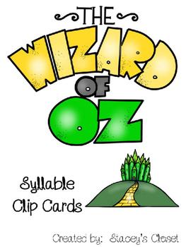 Wizard of Oz Syllable Clip Cards