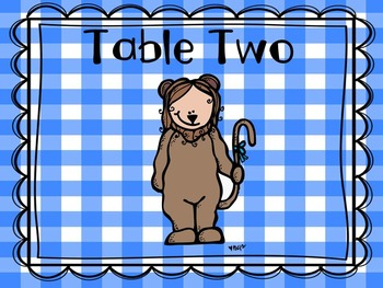 Wizard of Oz Table Numbers (Set One)