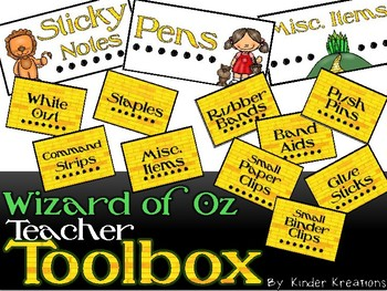Wizard of Oz Teacher Toolbox Labels