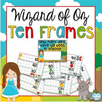Wizard of Oz Ten Frames - Counting Days in School by Oh So Elementary