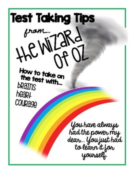 Wizard of Oz Test Taking Strategies