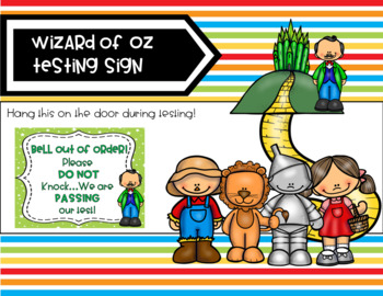 Wizard of Oz Testing Sign