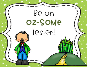 Wizard of Oz Testing Theme Motivational Posters