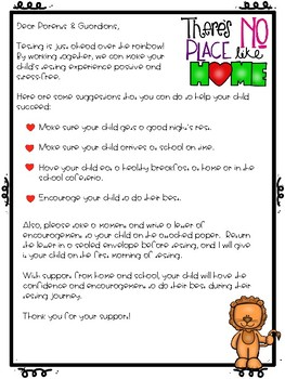 Wizard of Oz Testing Theme Parent Letter