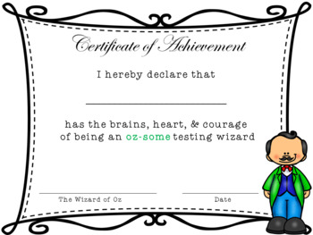 Wizard of Oz Testing Wizard Certificate