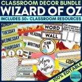 WIZARD OF OZ THEME Classroom Decor EDITABLE