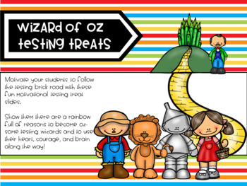 Wizard of Oz Theme Motivational Testing Treats