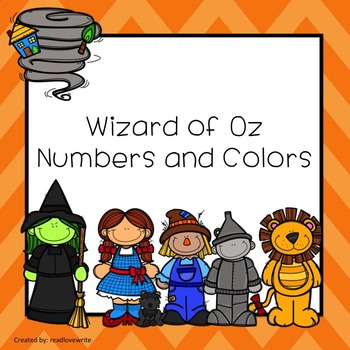 Wizard of Oz Theme Table Labels Numbers and Colors