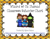 Wizard of Oz Themed Behavior Chart