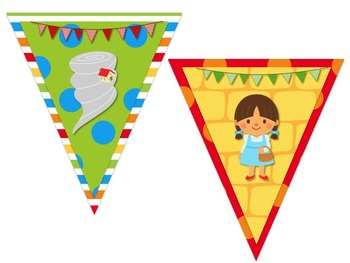 Wizard of Oz Themed Behavior Chart *Mini Pennant Banner Chart Header* and Forms