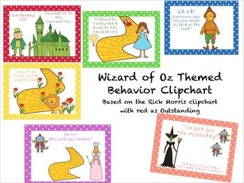 Wizard of Oz Themed Behavior Clip Chart