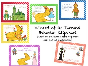 Wizard of Oz Themed Behavior Clip Chart