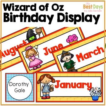 Wizard of Oz Themed Birthday Display