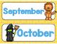 Wizard of Oz Themed Calendar Headers
