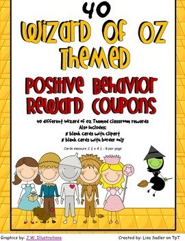 Wizard of Oz Themed Classroom Recognition Reward Coupons