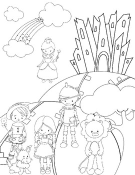 Wizard of Oz Themed Coloring Page & Word Search