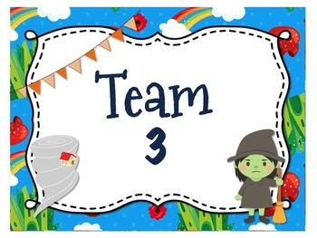 Wizard of Oz Themed {Editable} Team Posters