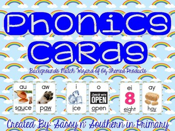 Wizard of Oz Themed Phonics Cards (Rainbows)