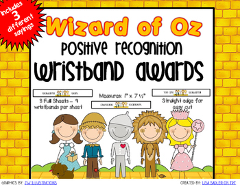 Wizard of Oz Themed Positive Recognition Award Wristbands