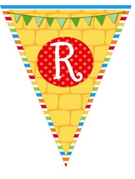 Wizard of Oz Themed Read-Reading Corner Pennant Banner