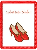Wizard of Oz Themed Substitute Binder