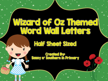 Wizard of Oz Themed Word Wall Letters (Emerald City Green)
