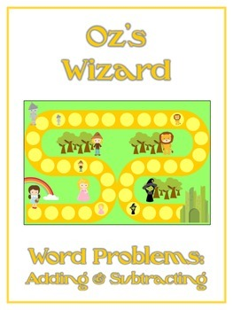 Wizard of Oz - Word Problems Adding & Subtracting - Math Folder Game