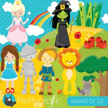 Wizard of Oz clipart commercial use, vector graphics, digital - CL740
