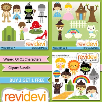 Wizard of Oz inspired clip art (3 packs)
