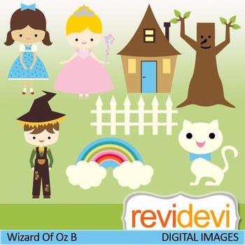 Wizard of Oz inspired clip art (fairytale digital clipart)
