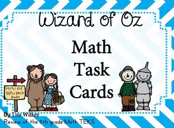 Wizard of Oz theme 5th grade math review