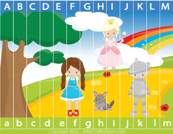 Wizard of Oz theme Alphabet Sequencing Puzzle