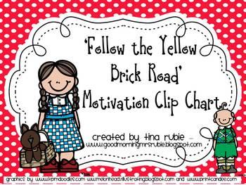 Wizard of Oz theme Motivation Clip Chart