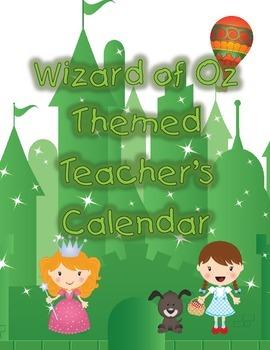Wizard of Oz themed Calendar