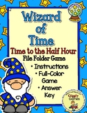 Wizard of Time Time to the Half Hour File Folder Game