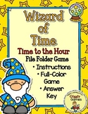 Wizard of Time Time to the Hour File Folder Game
