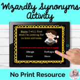 Synonyms Activity No Print Speech Therapy | Distance Learning