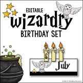 Wizardry Birthday Set Editable